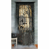 Spooky Lighted Lace Curtain Panel Halloween Decoration - Home Decor - 1 Piece