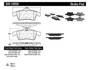 StopTech For Cadillac, Chevrolet / Disc Brake Pad Set Rear Centric - 309.10950