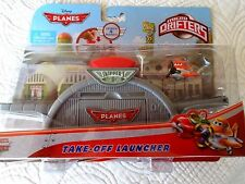 NIB DISNEY PLANES MICRO DRIFTER TAKE OFF LAUNCHER W/ DUSTY SKIPPER'S FLIGHT SCH