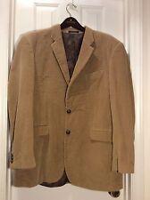Ralph Lauren Men Tan Brown Corduroy Sports Coat Jacket Blazer Size 44