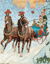 Nystrom Jenny Children In A Sleigh Print 11 x 14 #5357