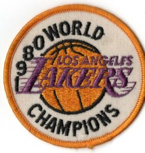 """Los Angeles Lakers Vintage 1980 World Champions 3"""" Circle Collectible Patch"""