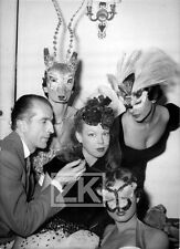 Fernand AUBRY CECILE Visagisme Masques Travestis Bal Costumé Mode Photo 1950