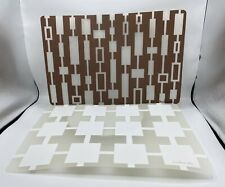 Lot of 6 Vintage Jonathan Adler Plastic Placemats Geometric Design Mid Century