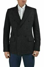 Dolce & Gabbana Wool Gray Double Breasted Sport Coat Blazer US 38R IT 48