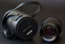 Konica Hexar AR 135mm F3.5 Camera Lens w Hard Leather Case