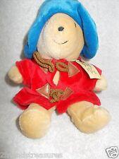 Paddington Bear Plush Toy Eden 8 Inches Red Coat Blue Hat Teddy Bear