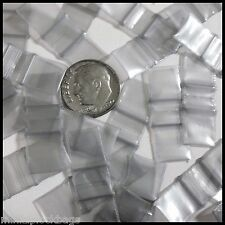 Tiny Ziplock Bags 3838 Silver Apple � Brand Dollhouse Room 100 Baggies .375""