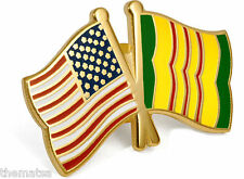 VIETNAM CAMPAIGN CROSSED FLAGS LAPEL  PIN  USA AMERICAN FLAG