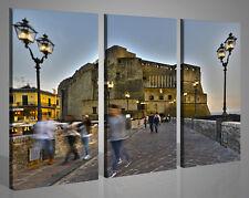 Quadri moderni canvas CASTEL DELL'OVO NAPOLI stampe su tela intelaiato 130x90