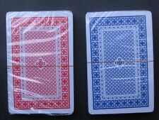 POKER Playing Card Red + Blue Twin Deck 100 Plastic Washable