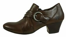 $110 NIB BORN Women Nova Brown Cognac Leather Bootie sz 9.5M/W EURO 41