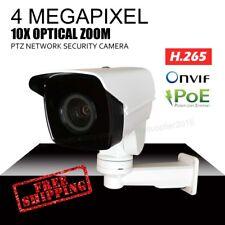 4MP PTZ Security Cameras 10x Optical Zoom IR H.265 POE IP66 Onvif  Micro SD slot