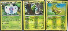 3 EVO XY GENERATIONS BUTTERFREE (Holo)+METAPOD (RH)+CATERPIE (RH) Pokemon MINT
