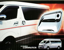 T COMPLETE SET OF CHROME DOOR HANDLE COVER TOYOTA HIACE COMMUTER 2005 - 2015