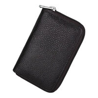 Genuine Leather Credit Card Holder ID Business Case Wallet 26 Card Slots Bag New