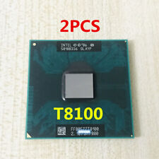 2PCS Intel Core 2 Duo T8100 CPU 2.1GHZ 800MHZ SLAYP Socket 479 Laptop Processpor