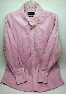 Lauren Ralph Lauren Mens Button Down Shirt Size 17.5-34/35 Pink Slim Fit