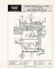 "WIPAC  WIRING DIAGRAM - NORTON ""ELECTRA"" 400cc TWIN"