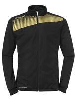 Uhlsport Mens Liga 2.0 Classic Sports Training Football Zip Jacket Top Black ...