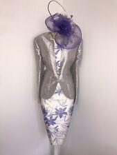 JACQUES VERT Size 16 Suit Dress Jacket Mother Of The Bride Lilac Purple Floral