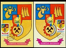 1978 Mine,Mining,Wisent/masonic,Mountains,Forest,SUCEAVA,Arms,Romania,maxi cards