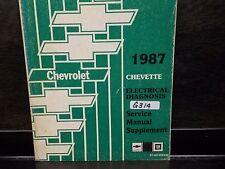1987 CHEVROLET CHEVETTE  ELECTRICAL DIAGNOSIS SERVICE MANUAL  (G314)