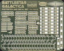 Battlestar Galactica Photoetch & Decal Set / Paragrafix PGX133 moebius models