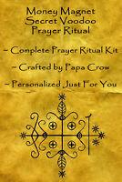 Money Magnet Voodoo Prayer Ritual Kit Draw Cash Wealth Income Sales Success