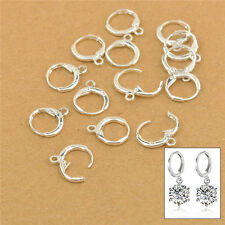 50PCS DIY Handmade Jewelry Findings Sterling Silver Lever Back Drop Hoop Earring