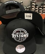 "Mitchell & Ness Detroit Pistons ""Dark Hologram"" Black  snapback snap CAP Hat"