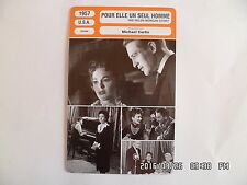 CARTE FICHE CINEMA 1957 POUR ELLE UN SEUL HOMME Ann Blyth Paul Newman