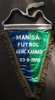 Fußball Football Futbol WIMPEL TÜRKEI TURKEY TÜRKIYE  Genç Karması MANISA 1970