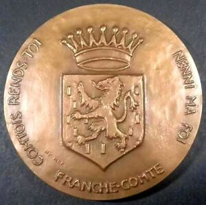 Médaille FRANCHE COMTE / COMTOIS RENDS TOI NENNI MA FOI / UTINAM - 1977 - FRANCE