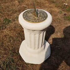 Concrete Octagonal Plinth Cream With Round Morning Glory Sundial