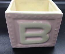 "Vintage USA Haeger #269 Pink Baby Block Planter A & B - Bunny & Duck 3.75""X4.25"""
