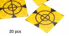 20x Survey Targets stickers 20x20 mm pack of 20 Adhesive For Total Stations EDM