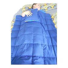 Sensory Weighted (5 lb) Blanket & Pillow SET autism ADHD custom INSOMNIA (Blue)