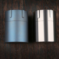 Titanium Survival Waterproof Capsule Pill Case Box Tablets Storage Container