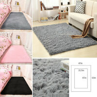 Fluffy Plush Rugs Anti-Skid Shaggy Area Rug Home Bedroom Thick Carpet Floor Mat