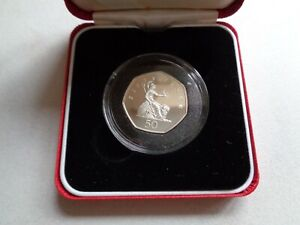 1997 Royal Mint 50p Silver Proof Britannia with Box and COA  #S1644
