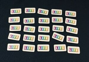 THE GAME OF LIFE REPLACEMENT LIFE TILES / COMPLETE SET OF 25