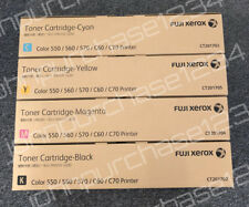 Fuji Xerox Toner Genuine Color 550, 560, 570, C60, C70  full Set of 4 units CMYK