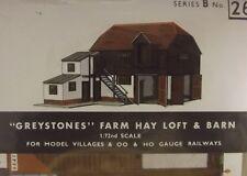 Superquick Card Kit OO/HO Gauge B No.26 - B26 Greystones Farm Hay Loft & Barn