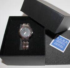 Classy AVON Lady's Genuine Diamond Wrist Watch with Beautiful Titanium Tone