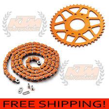 KTM 390 Duke and RC390 Genuine KTM Orange Chain Kit 44 Tooth