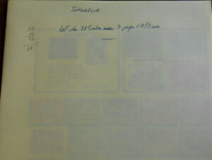 SINGAPOUR:lot de 81 timbres sur 3 pages d'album,tout sur les photos:détails