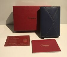 CARTIER Les Must L3001061 Porta Carte Blu Pelle Capretto Goatskin Card Holder