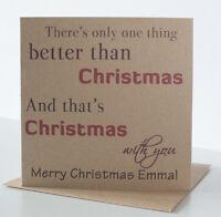 Personalised Christmas Card Special husband boyfriend wife girlfriend fiancé