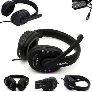 Gaming Headset Kopfhörer USB flash LED Mikrofon für PC Laptop PS4 Xbox Switch